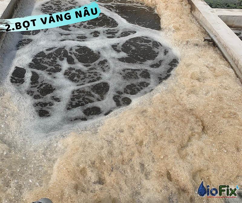Bubbling float in aerobic biological tank